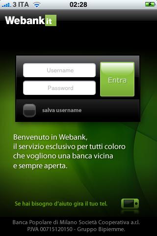 WeBank - gira il tuo tel