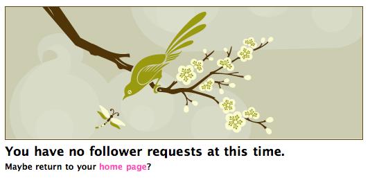 Twitter: nessuna richiesta di follower