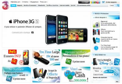 iPhone sulla home di 3 Italia