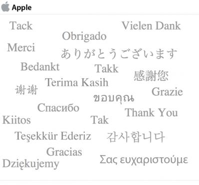 Fine questionario Apple