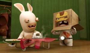 Mai dare un ferro da stiro ad un coniglio